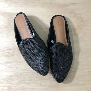 Black Flats Mules Slip On Shoes Universal Thread 6